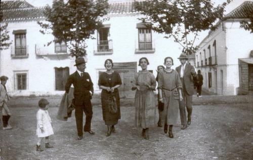 Plaza de las Flores (Estepona. Hacia 1920. Juan Gaitán)