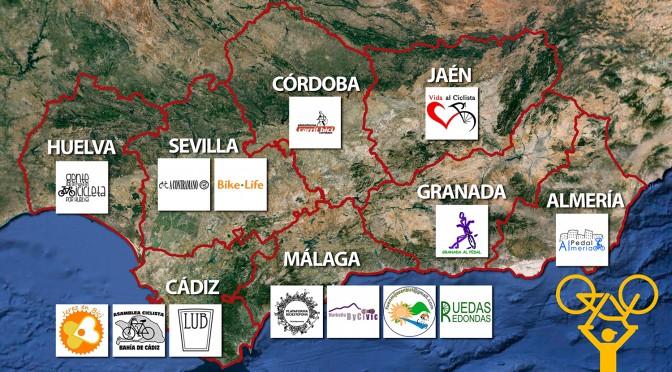 Ciclistas se reunen en defensa del Plan Andaluz de la Bicicleta