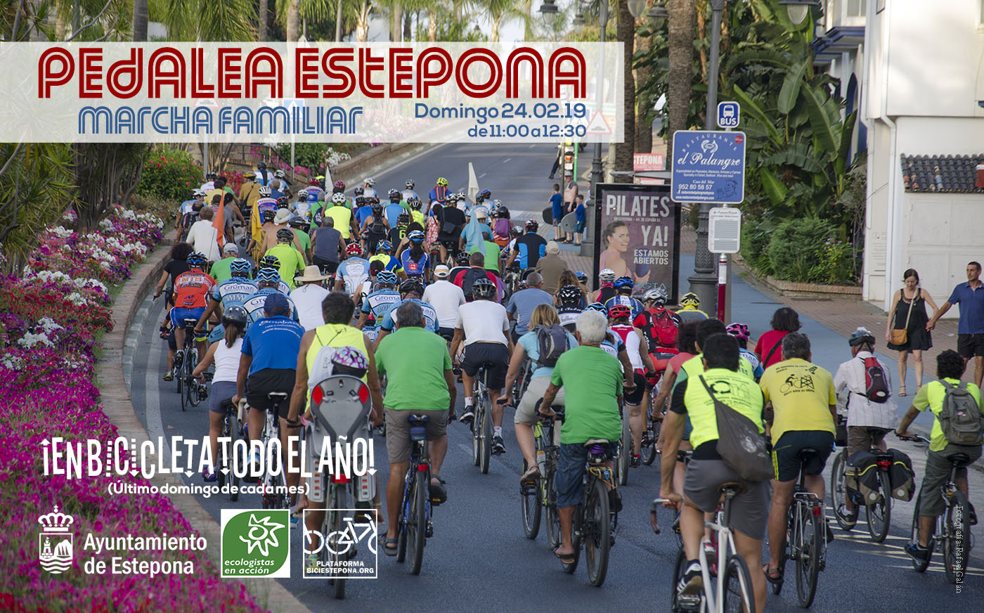 Pedalea Estepona. Marcha ciclista popular. Domingo 24/2/19